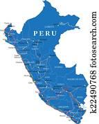 秘鲁, 地图图片