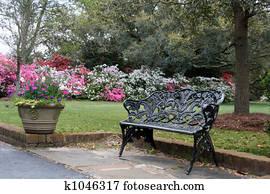 Garden Bench Stock Photos And Images 21 710 Garden Bench