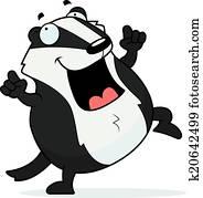 卡通漫画, 獾, 跳舞图片