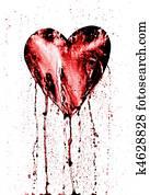 失量图库 - 绝望, -, 流血的心