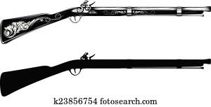 Rifle Clipart EPS Images. 8,232 rifle clip art vector ...