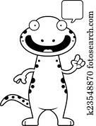 剪贴画 - 卡通漫画, 蝾螈, 谈话图片