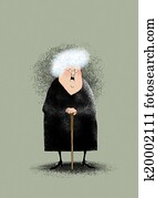 Old Lady Clip Art And Stock Illustrations 1 943 Old Lady