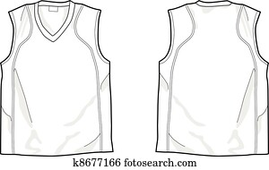 Clipart of tank top k4908341 - Search Clip Art ...