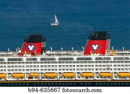 Disney Liner. Port of Barcelona. Spain