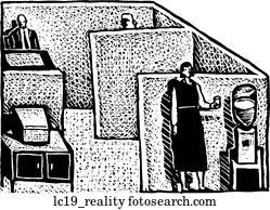 büro, wirklichkeit