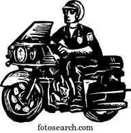 motorrad, polizist
