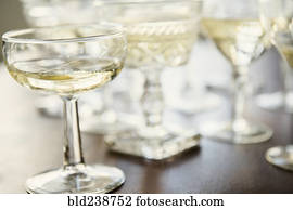 champagner, in, coupes