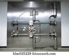 Banque de Photographies - fermé, chambre forte banque, porte ...