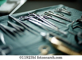 still life of surgical instruments