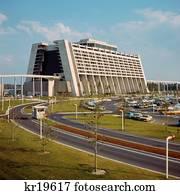 1970S Contemporary Resort Hotel Disney World Florida Usa