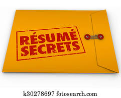 Resume Secrets Yellow Envelope Help Guidance Tips Advice Job Interview