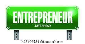 entrepreneur sign illustration