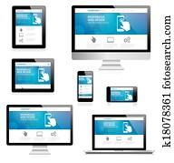 Modern responsive web design comput