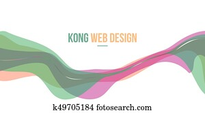 Colorful Header website abstract design