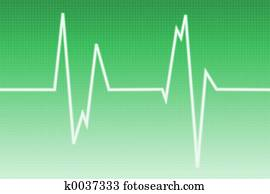 Cardiogram wave -