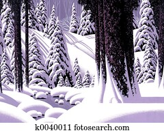 Forest Snow Scene