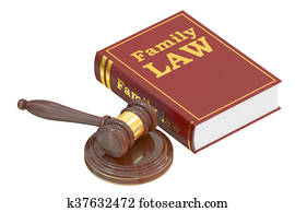 Family Law concept, 3D rendering