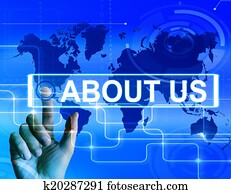 About Us Map Displays Website Information of an International Co