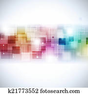 Abstract Multicolor Communication Background