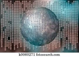 Data, binary code.