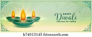 ethnic happy diwali festival holiday banner design