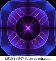 Abstract color background with future fractal effects. Arrows an