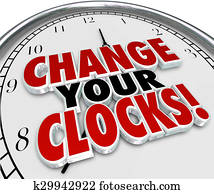 Change Your Clocks Set Hands Forward Back One Hour Daylight Savings TIme
