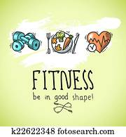 Fitness sketch poster