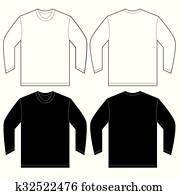 Branca, camisa pólo, desenho, modelo, para, homens Clipart