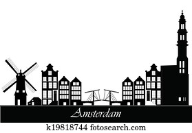 amsterdam netherlands skyline