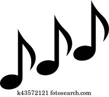 Music notes triple