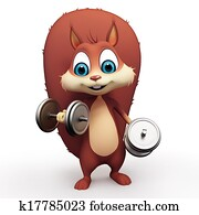 Squirrel doing exercise