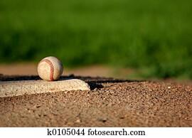 baseball on pitchers mound
