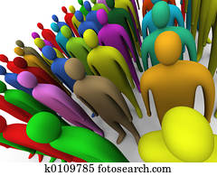 Multicolor crowd #2