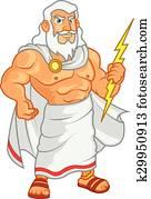 Zeus Cartoon