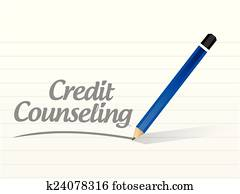 credit counseling message illustration