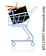 Gift in a cart