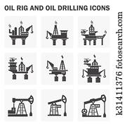 Oil rig icons