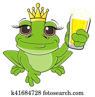 princess frog with drink