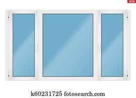 fenêtre en pvc avec trois écharpe