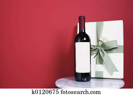 gift with bottle of
