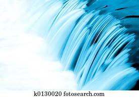 Blue Water Flow Detail