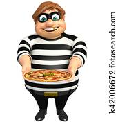 Thief with Pizza