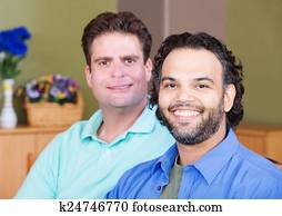 Mixed Gay Male Couple
