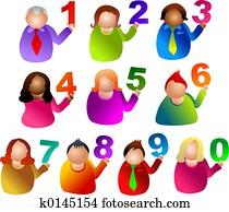 number people