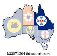 queensland on map of australia