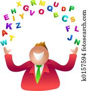 juggling letters