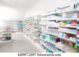 Medicines Arranged At Pharmacy