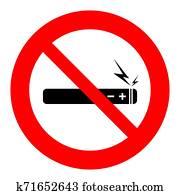 No vaping no electronic cigarette sign